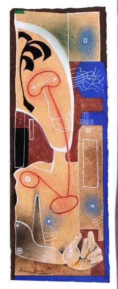 Cadaques No. 24, Surreal Figure Painting by Eduardo Arranz-Bravo
