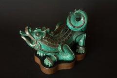 """""""Argenta Dragon"""" Sculpture by Wilhelm Kåge"""