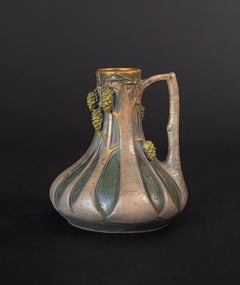Amphora Ewer with Pine Cone Motif by Paul Dachsel