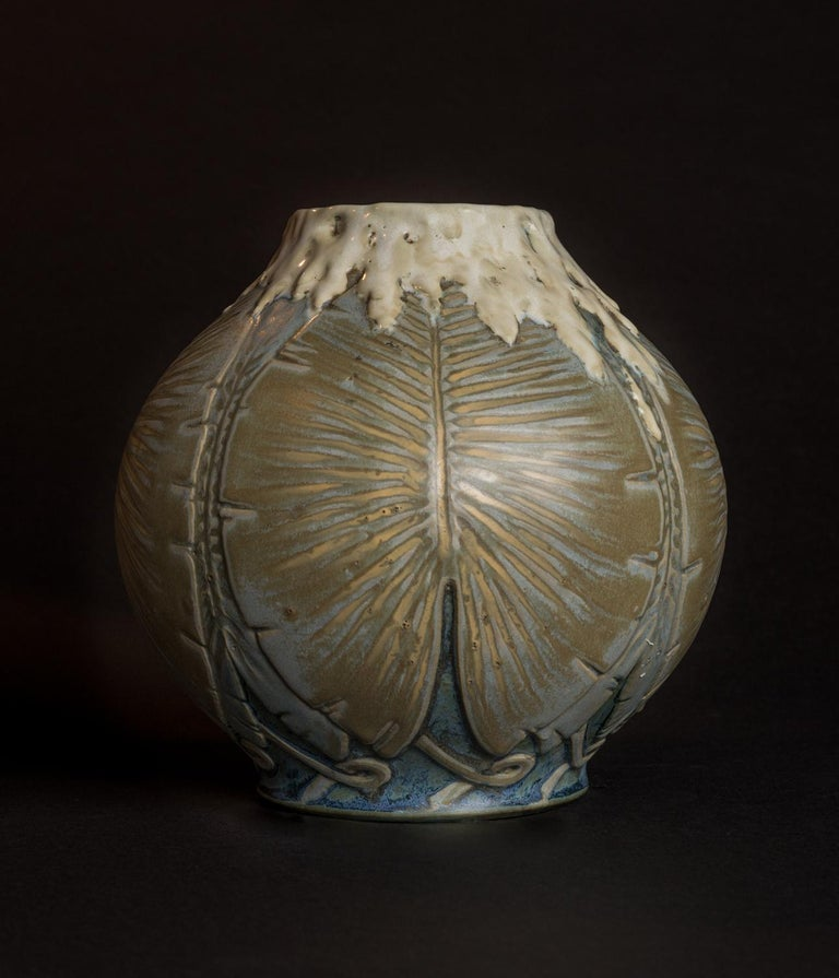 Philodendron Vase - Art by Leonard Gebleux and Maurice Herbillon for Sevres