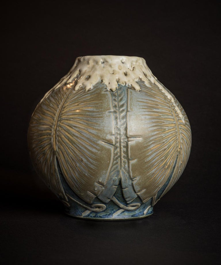 Philodendron Vase - Art Deco Art by Leonard Gebleux and Maurice Herbillon for Sevres
