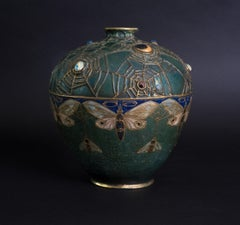 Amphora Jeweled Moth Semiramis Vase