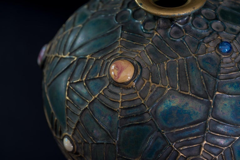 Amphora Jeweled Moth Semiramis Vase For Sale 2