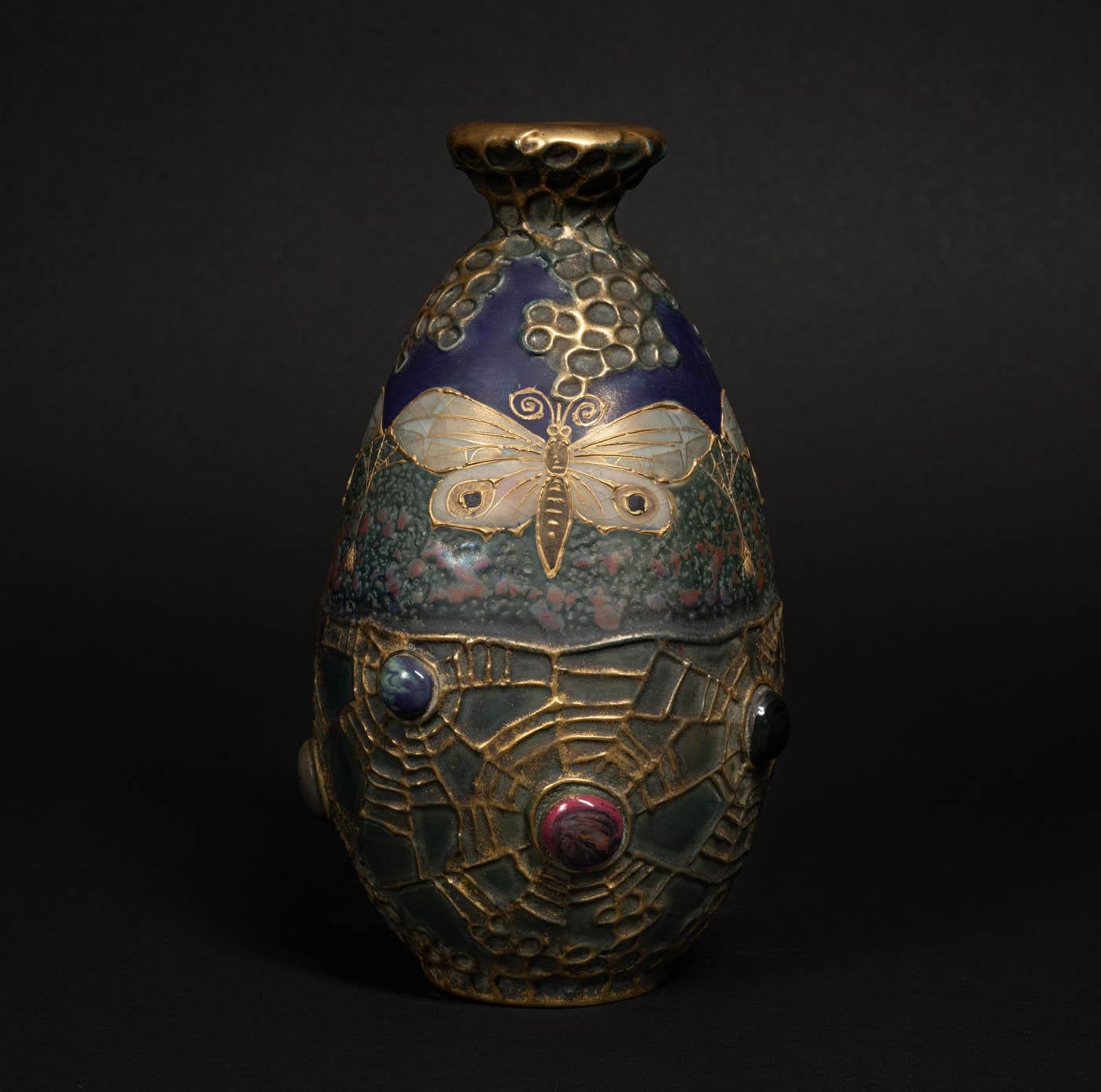 Amphora Semiramis Butterflies & Spiderwebs Vase