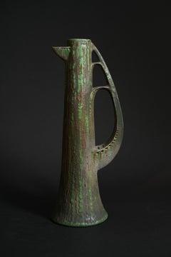 Amphora Ewer in the Shape of a Stylized Tree by Paul Dachsel for Kunstkeramik