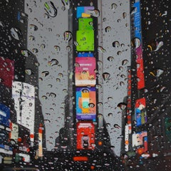Wet City original NYC CITY  landscape painting