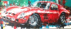 Ferrari original abstract classic car painting