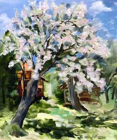 Apple Tree Blossoms original still life painting
