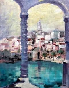 Capri Italy original city landscae painting