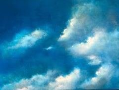 Daisy Down abstract original sky painting - Contemporary Art