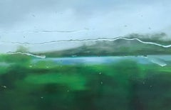 Regen I original Rain  landscape painting Contemporary art 21st Century