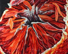 Blood Orange XVII Abstract original painting Contemporary Realism- 21st Century
