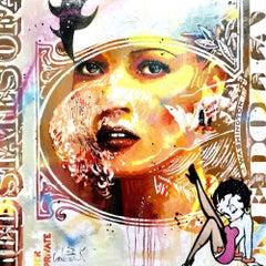 Kate Moss original pop art Celebrity painting Contemporary Art - 21st Century