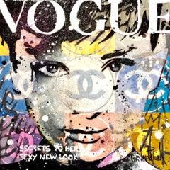 Audrey new Look original pop art painting Contemporary Art - 21st Century