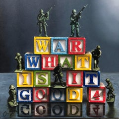 War what is it good for original REALISM  painting Contemporary Art 21st Century