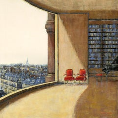 Paris Joy original City Landscape interior painting - Contemporary Art