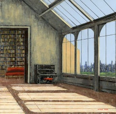 Central Park original City Landscape interior painting - Contemporary Art