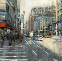 Chelsea original City Landscape interior painting - Contemporary Art