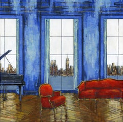 Bay View City  interior painting - Contemporary Art-21st Century