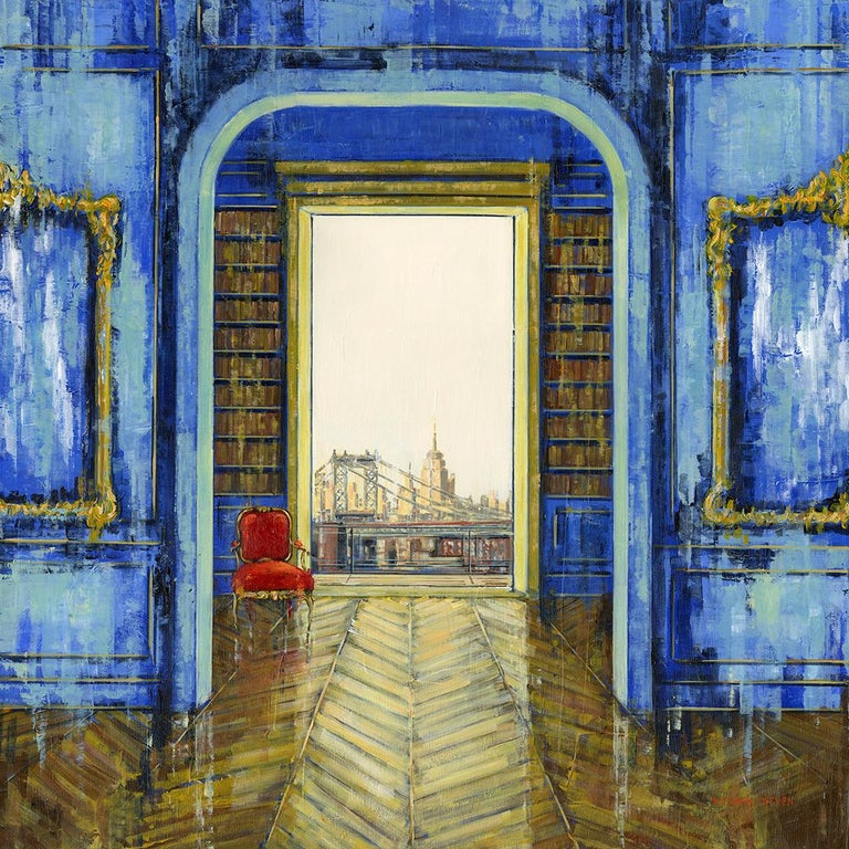 Nathan Neven Abstract Painting - Brooklyn & Empire original City Landscape interior painting - Contemporary Art