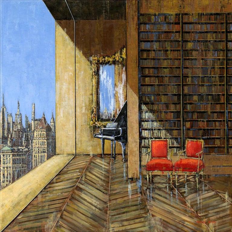 Nathan Neven Abstract Painting - Manhattan original City  interior painting - Contemporary Art-21st Century