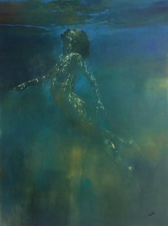 Silent Rising original abstract figurative painting-Contemporary Art- 21st