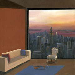 Empire State original city landscape interior  painting contemporary art