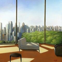 Central Park original city landscape interior  painting contemporary art