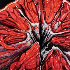 Blood Orange XVI Abstract original painting Contemporary Realism- 21st Century