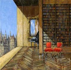 Manhattan original City  interior painting - Contemporary Art-21st Century