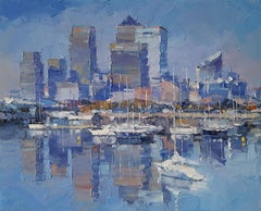 London Original abstract city landscape painting Contemporary 21st Century Art