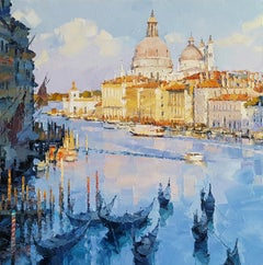 Venice XII abstract  city landscape painting Contemporary Art 21st