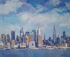 New York City XII abstract  landscape painting Contemporary Art 21st