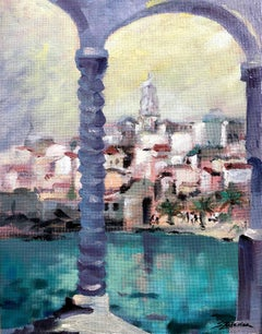 Capri Italy original city landscae painting