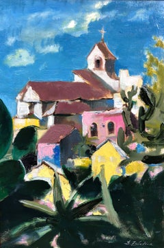 Summer in Italy original city landscape  painting