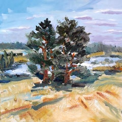Pine Tree study original landscape painting
