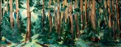 Forest original landscape painting