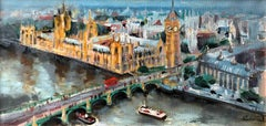 Original Westminster city  landscape painting