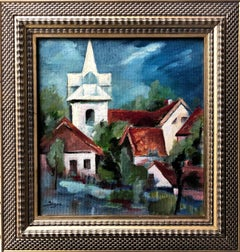 Original city landscape painting
