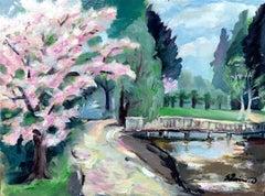 Regents park study original landscape painting