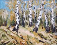 Autumn Birch original landscape painting
