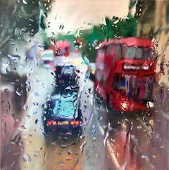 Queen's Park London abstract City landscape painting Contemporary 21st Century