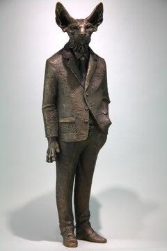 Sphynxman - bronze sculpture- limited edition- Modern- Contemporary