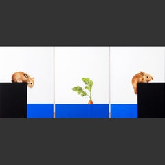 """Blue Sea Bunny Mine"" original still life realism oil contemporary paintings"