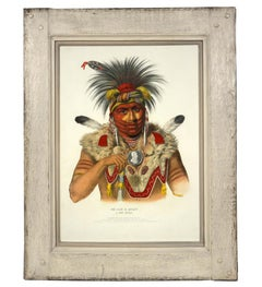 Charles Bird King, Ne Sou A Quoit - A Fox Chief, lithograph, 1842