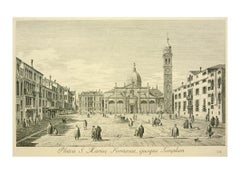 Antonio Visentini, View of Venice, engraving after Canaletto, 1790