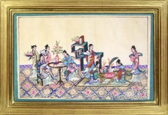 Chinese School, a Set of Six Courtly Ladies at Leisure