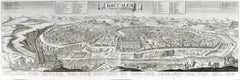 Werner, Panoramic view of Biblical Jerusalem, 1745
