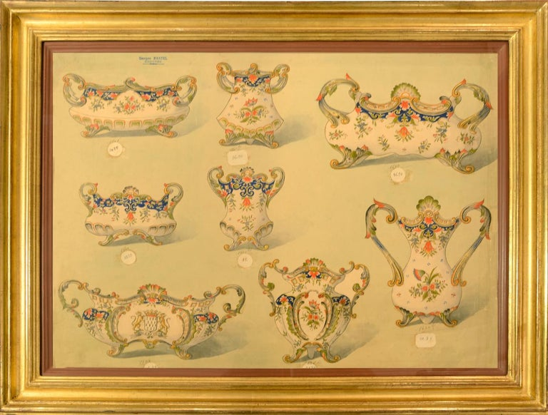 [PORCELAIN] - MARTEL, Georges. Still-Life - Geroges Martel, Desvres Porcelain designs, 1900