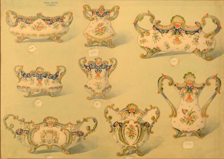 Geroges Martel, Desvres Porcelain designs, 1900 - Art Deco Art by [PORCELAIN] - MARTEL, Georges.